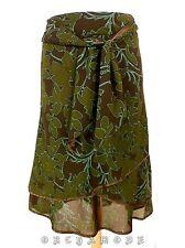 Jupe H & M ample Doublé Volant T 38 M 2 Ceinture feuillage Skirt Rock falda été