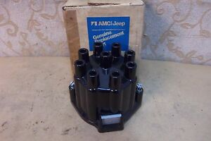 NOS GENUINE Made In USA AMC JEEP CJ5 CJ6 WAGONEER V8 DISTRIBUTOR CAP # 3200192