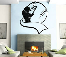 Baseball Bat And Glove Men  Sport Decor Wall MURAL Vinyl Art Sticker z825