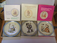 """Schmid Brothers Hummel Mothers Day Plates 1972, 4, 5 in boxes 7 3/4"""" hbg"""