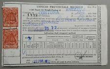 Certificato con 2 Marche da Bollo lire 300 Pesi Misure e Marchio 1972