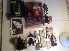 Star Wars Lot of 10 ROTS TPM AOTC Figures several Complete Maul foreign card MOC
