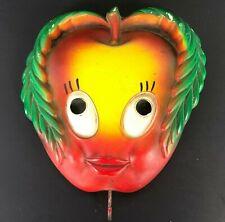 Vintage Chalkware Apple Face Hook RETRO Kitchen Hot Pad Holder Miller Chalk Ware