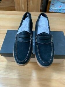 GH Bass Womens Weejuns Penny Loafer Navy Suede Size 38.5