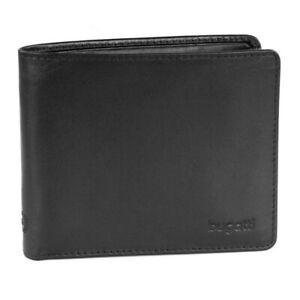 Bugatti Wallet, Primo, Purse, Coin Pocket, Pocket, Wallet, Black