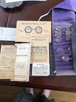 Antique Eyeglasses True-Fit Optical Co Salesmen Reading Sample