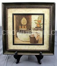 "Charlene Winterle Olson Bathroom Wall Art Decor 14.5"" Square Frame & Matted"