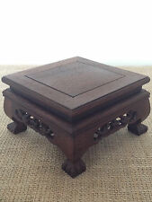 Square Wooden Bonsai Display Table / Stand  14x14x8cm