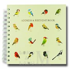 Matt Sewell Square Address And Birthday Book - Birds - Perfect Gift