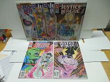 Justice League America JLA DC Comic Books 72-77 Firestorm Hawkman Atom Arrow