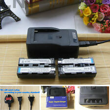 2X NP-F550 Battery+Charger for Viltrox DC-70EX DC-70 II DC-70HD&LED Video Light