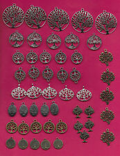 TREE OF LIFE CHARMS 50 PCS PENDENTS JEWELRY FINDINGS FOR MAKING BRACELETS AND NE