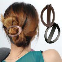 Nouvelle femme filles cheveux en plastique Updo Clip Bun Maker Barrette Styling