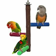 Rypet Parrot Perch Rough-surfaced Sand Perches Natural Wood Stand Parakeet Other