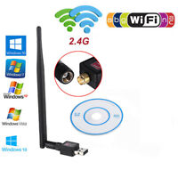 600 Mbps 2.4G Wireless USB WiFi Dongle Network Adapter 802.11n/g/b LAN w/Antenna