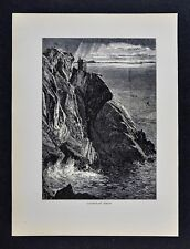 1878 Picturesque Print - Carrigan Head - Killybegs - Donegal County Ireland