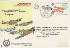 GB Stamps Souvenir Cover RAF, Battle of Britain Spitfires, Goodwood Display 1975