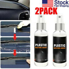 2PCS Interior Plastic Plastic Parts Wax Retreading Agent Renewed Plastic Restore
