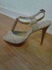 Aldo Italian Creme White Open Toe Sandal Shoes Size 8.5 (39)