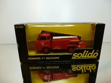SOLIDO 3303 SAVIEM S64 POMPIERS 1er SECOURS - RED 1:43 - VERY GOOD IN BOX