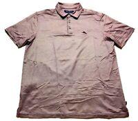 Tommy Bahama Marlin Mens Purple Short Sleeve Polo Shirt Size Large