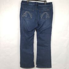 Melissa McCarthy Seven7 Boot Cut Stretch Jeans 18 Slimming Silhouette System