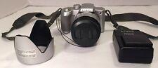Panasonic Lumix DMC-FZ4 Digital Camera - Includes Battery, Charger & Hood TESTED