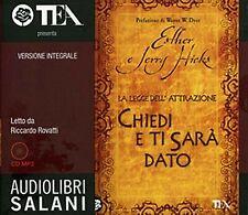 Audiolibro audiobook MP3 CHIEDI E TI' SARA' DATO  Esther e Jerry  Hicks / USATO