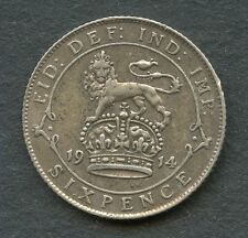 GREAT BRITAIN 1914 SIXPENCE COIN YOU DO THE GRADING HAVE FUN
