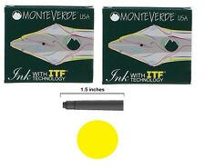 12 Monteverde International Standard Fountain Pen Ink Cartridges - Yellow