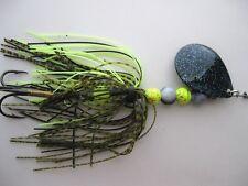 Pike/Bass <Black Crystal> handmade inline spinner **