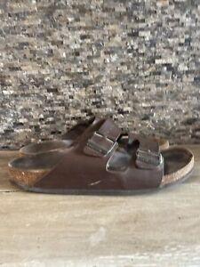 Birkenstock Arizona Brown Leather Men's Size 11 Sandal (44) Made in Germany