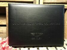 2013 BENTLEY GT SPEED CONVERTIBLE GTC OWNERS MANUAL + NAVIGATION SECTION OeM NEW