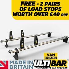 VAUXHALL Combo 12-18 FIAT DOBLO 2010 Roof Rack Bars 2 X Van Guard Ulti Bar