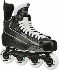 New TOUR Code 5 Senior Inline Hockey Skates Black/White Size 12