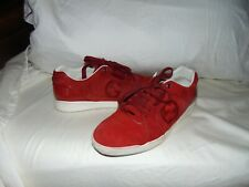 Gucci GG Logo Red Suede & Patent Leather Low  Sneaker Shoe  Sz 9 G  US 10 $650