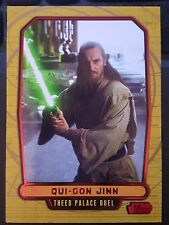 Star Wars 2012 Galactic Files 2 #375 Qui-Gon Jinn RED Parallel 18/35 MINT