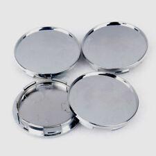 Universal Chrome Silver Car Wheel Center Hub Caps Covers Set No Logo 4Pcs 68mm