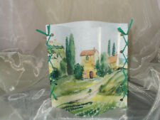 Deko Windlicht Landschaft mediterran Tischlicht Unikat Geschenkidee