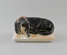 9997123 Ens Porzellan Figur Dackel schwarz auf Kissen Jagdhund Hund 10x17x14cm
