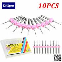 Drillpro 10pcs 1mm End Mill Foret Fraise Perceuse Carbure Acier CNC PCB Gravure