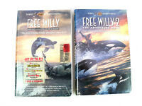 Free Willy Movies (1, 2) Lot 1993 1995 VHS Tapes Family Adventures NTSC Drama