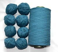 Wolle Chenille 8 x 50 Gramm jeansblau Stricken Häkeln 8 gewickelte Knäuel 400 Gr