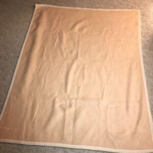 "Biederlack of America fleece throw blanket light peach  light coral 60"" x 47"""