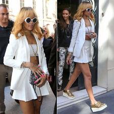 "Chanel Vintage Rare Black  ""CHANEL PARIS"" Sunglasses As Seen On Rihana MINT"