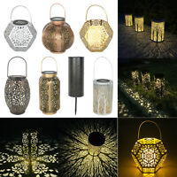 Solar Powered LED Hanging Light Outdoor Garden Yard Lawn Decor Projection Lamp