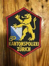 SWISS SWITZERLAND  PATCH POLICE POLIZEI CANTONE ZURICH - ORIGINAL!