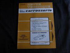 revue technique automobile-carrosserie-opel rekord D et commodore B