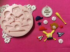 Big Baseball Set silicone mold fondant food cake decorating soap cupcakes FDA