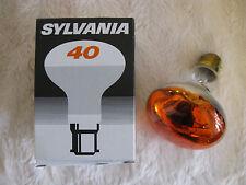 5 x Sylvania 40W B22 R80 Ambra Riflettore Lampada Lampadina 240V 1000H lotto OdL UK